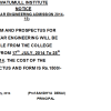 First Year Engineering Admission Notice 2014-2015
